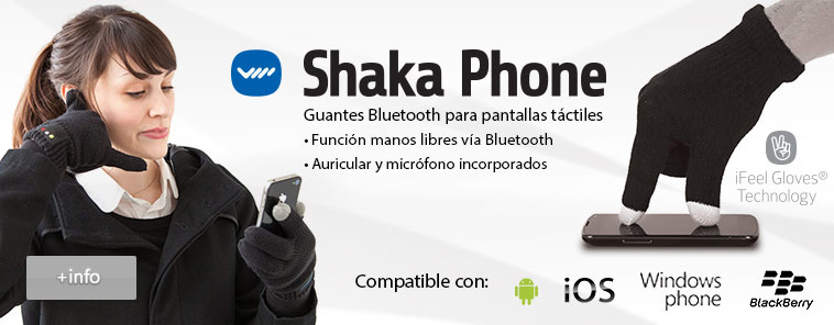 GUANTES TACTILES MANOS LIBRES SHAKA PHONE